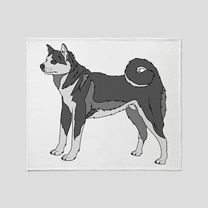 Akita dog Throw Blanket