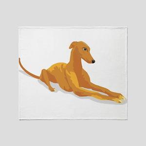 greyhound drawing Throw Blanket