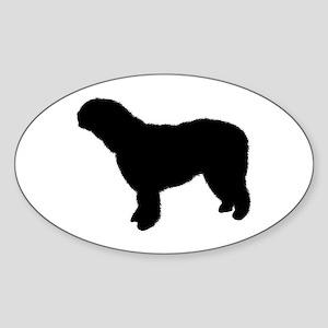 Spanish Water Dog Oval Sticker