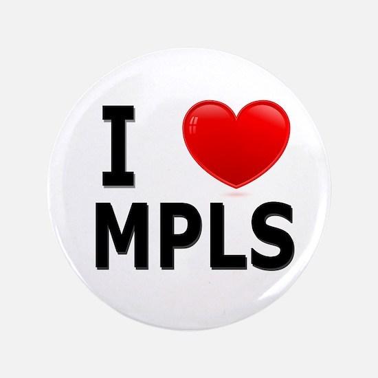 "I Love Minneapolis 3.5"" Button"