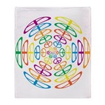 Peace Symbols Throw Blanket