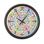 Peace Symbols Large Wall Clock
