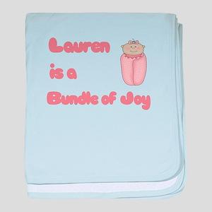 Lauren is a Bundle of Joy baby blanket