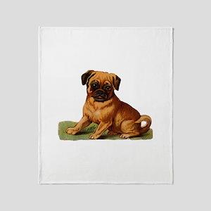 Baby Pug Throw Blanket