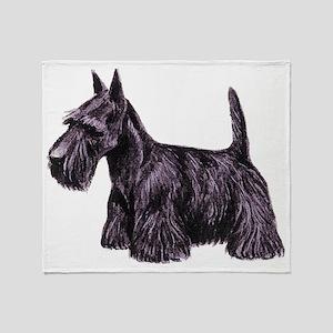 Scottish Terrier Throw Blanket