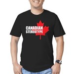 Canadian stereotype Men's Fitted T-Shirt (dark)