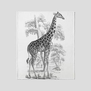 Giraffe Drawing Throw Blanket