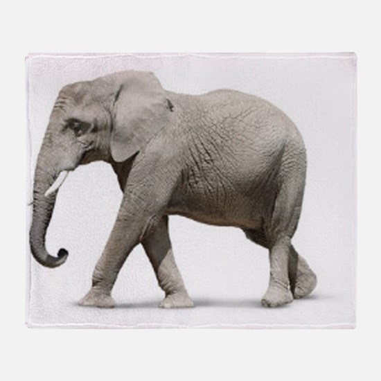 Elephant photo Throw Blanket