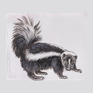 Striped Skunk Throw Blanket