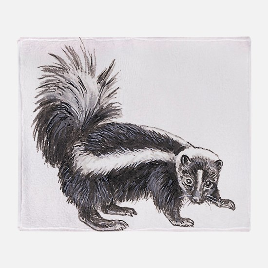 Striped Skunk Throw Blanket