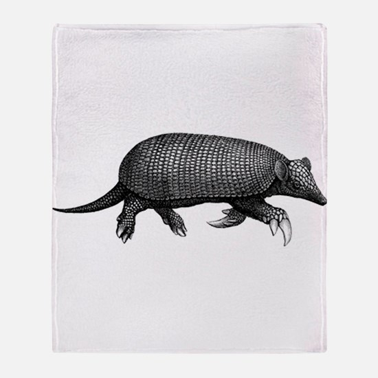 Giant Armadillo Throw Blanket
