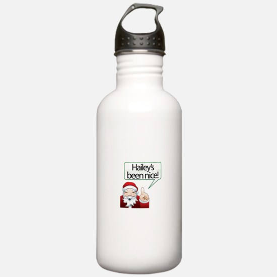 Hailey's Been Nice Sports Water Bottle
