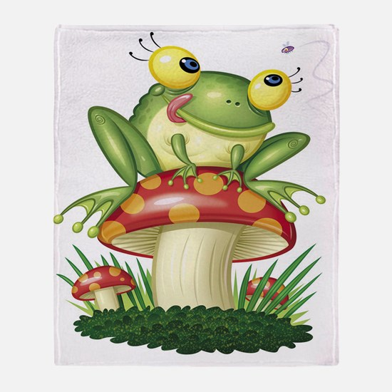Frog & Toad stool Throw Blanket