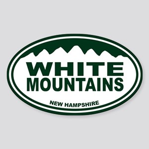 White Mountains Sticker (Oval)