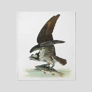 Osprey Bird Throw Blanket