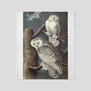 Snowy Owls Throw Blanket