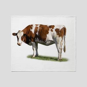 Cow Photo Throw Blanket