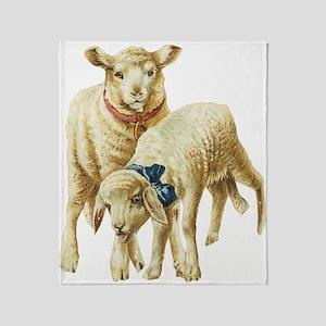Lamb drawing Throw Blanket