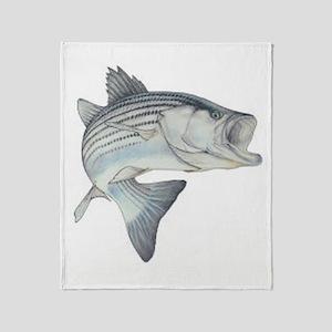 Striped Bass Throw Blanket