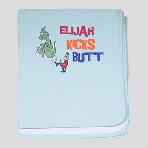 Elijah Kicks Butt baby blanket