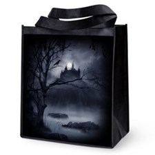Gothic Night Fantasy Reusable Grocery Tote Bag