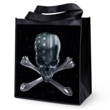 Spacey American Skull Reusable Grocery Tote Bag