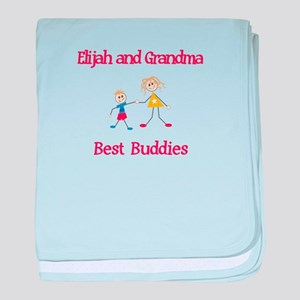 Elijah & Grandma - Buddies baby blanket