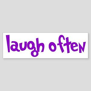 laugh often Sticker (Bumper)