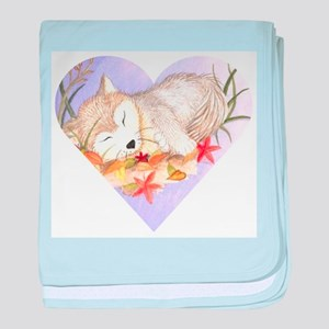 Little wolf sleeping baby blanket