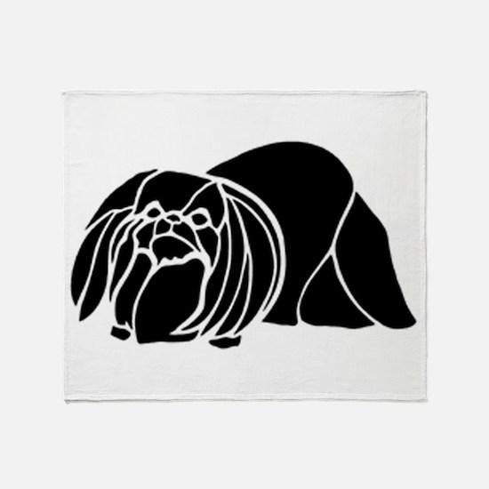 Pekingese Throw Blanket