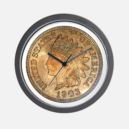 Indian Head Penny Obverse Wall Clock