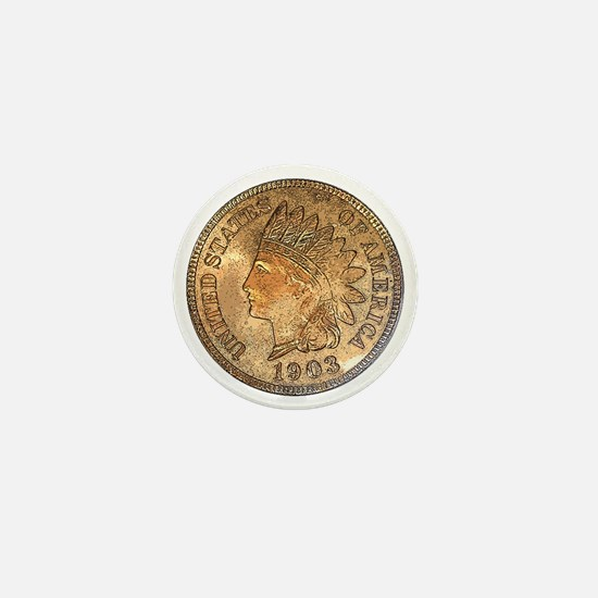 Indian Head Penny Obverse Mini Button