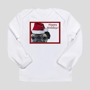 Christmas Pug Long Sleeve Infant T-Shirt