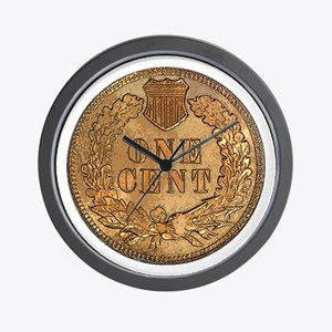 Indian Head Penny Reverse Wall Clock