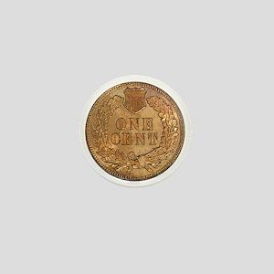 Indian Head Penny Reverse Mini Button