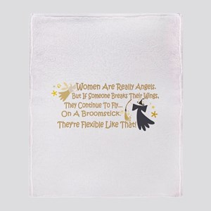 Women Are Like Angels Throw Blanket