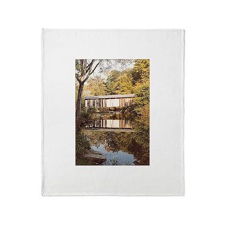 Covered Bridge Throw Blanket