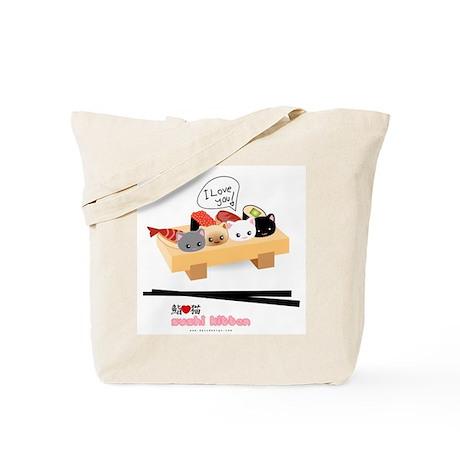 sushi kitten Tote Bag