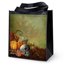 Halloween Skull Reusable Grocery Tote Bag