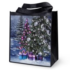 Christmas Landscape Reusable Grocery Tote Bag