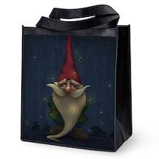 Old Christmas Gnome Reusable Grocery Tote Bag