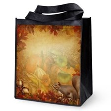 Thanksgiving Squirrel Reusable Grocery Tote Bag