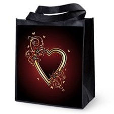 Classic Heart Reusable Grocery Tote Bag