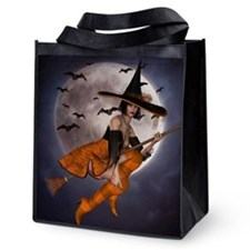Halloween Witch Reusable Grocery Tote Bag