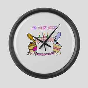 The Cake lady Large Wall Clock