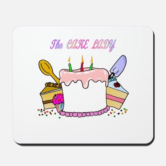 The Cake lady Mousepad