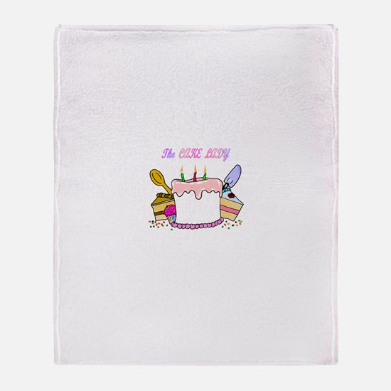 The Cake lady Throw Blanket