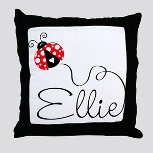 Ladybug Ellie Throw Pillow