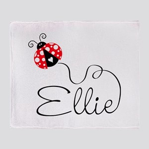 Ladybug Ellie Throw Blanket