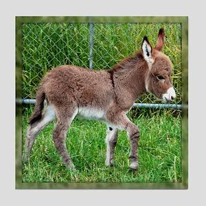 Miniature Donkey Foal Tile Coaster